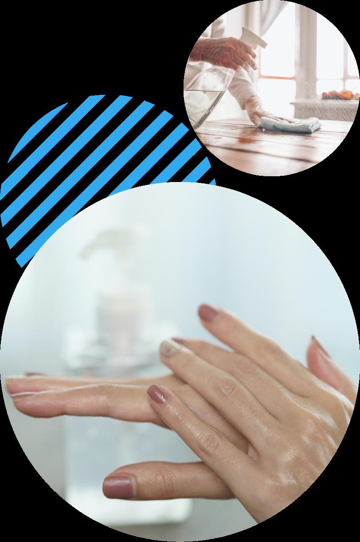 Desinfektion für Hände und Flächen