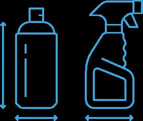 Sprühflaschen Icons