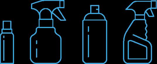 Zerstäuberflaschen Icons